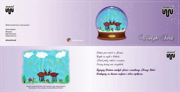 Weihnachtskarte Polen